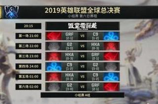 LOL S9小组赛第六日首发名单公布:G2渴望头名出线