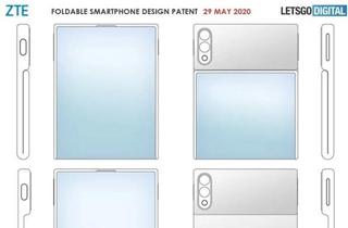 中兴折叠屏手机专利曝光 采用翻盖式外掀柔性屏设计