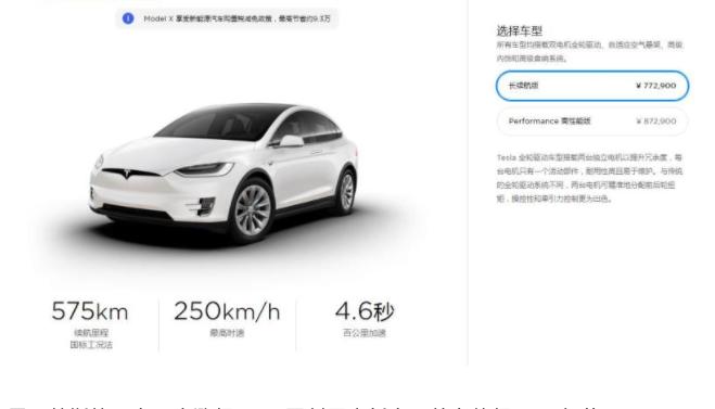 特斯拉将Model S和Model X在中国的起售价下调8000元