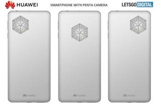 华为后置五摄手机新专利曝光 采用伞状式模组
