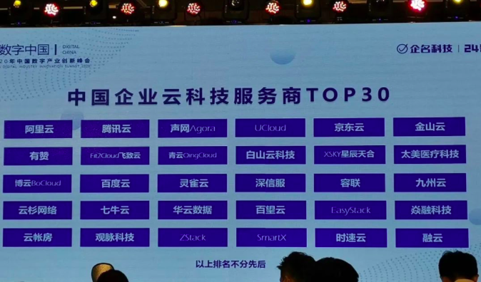 观脉科技凭借AllWAN智能云网入选中国企业云科技服务商TOP30
