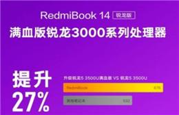 小米笔记本新款RedmiBook 14处理器规格曝光 最高四核八线程