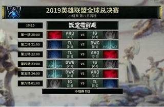 LOL S9小组赛第八日赛程:iG将迎来三场恶战